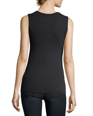 Image 2 of 2: Soft Touch Sleeveless V-Neck