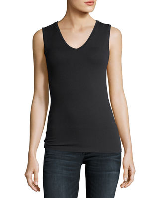 Image 1 of 2: Soft Touch Sleeveless V-Neck