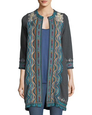 Johnny Was Yucatan Everyday French Terry Embroidered Coat