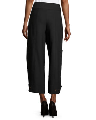 Image 2 of 4: High-Waist Wide-Leg Cargo Trousers