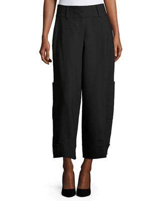 Image 1 of 4: High-Waist Wide-Leg Cargo Trousers