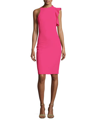 Pabla Ruffle-Trim Stretch Crepe Cocktail Dress