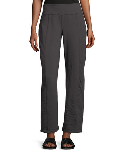 Empire Paneled Straight-Leg Pants