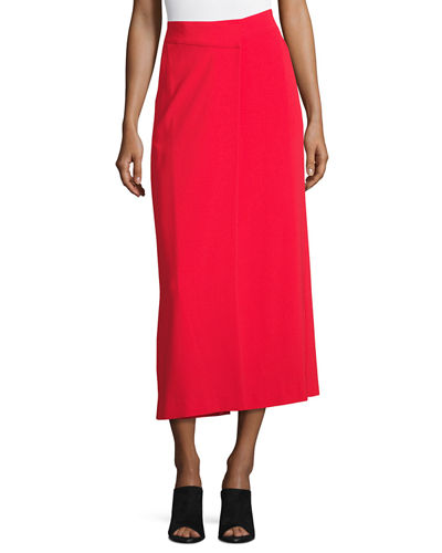 Lomand High-Rise Wide-Leg Crepe Pants