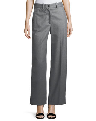 Crane Wool-Blend Wide-Leg Pants