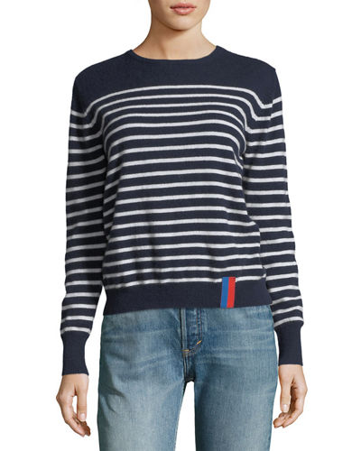 Sophie Crewneck Striped Cashmere Sweater