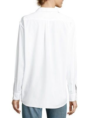 The Hutton Button-Front Oversized Oxford Shirt