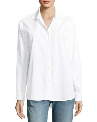 Kule The Hutton Button-Front Oversized Oxford Shirt