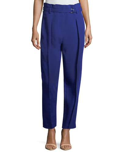 3.1 Phillip Lim High-Waist Straight-Leg Pant w/ Leg