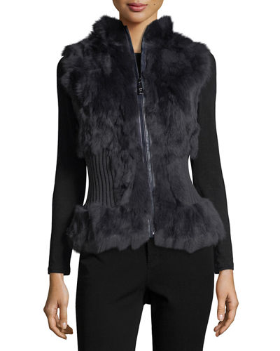 Belle Fare Rabbit Fur Vest