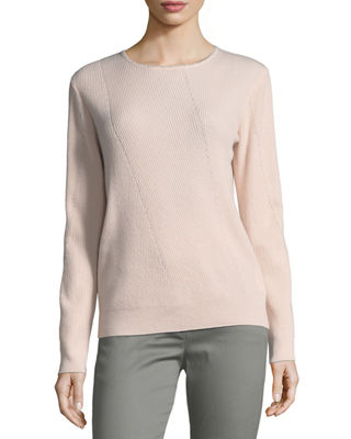 Cashmere Jewel-Neck Sweater
