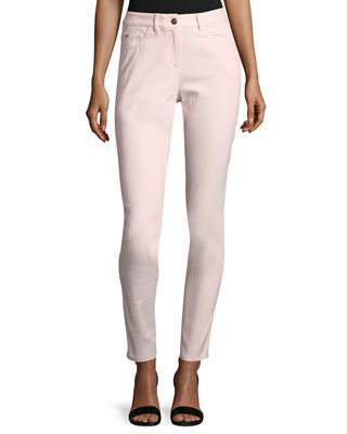 St. John Collection Bardot Double-Stretch Slim-Leg Jeans