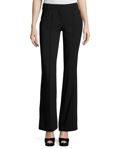 A.L.C. Lawrence Mid-Rise Wide-Leg Crepe Pants and Matching