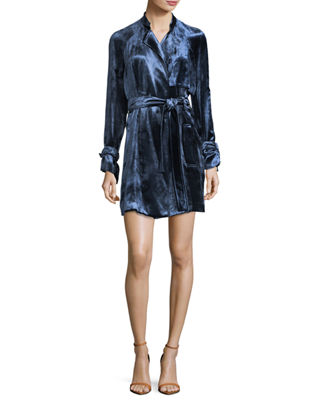 A.L.C. Kendall Velvet Trench Dress