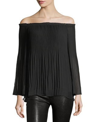 Off-the-Shoulder Georgette Blouse