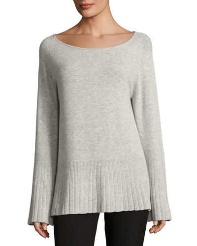 Elizabeth and James Clarette Boat-Neck Wide-Sleeve Sweater