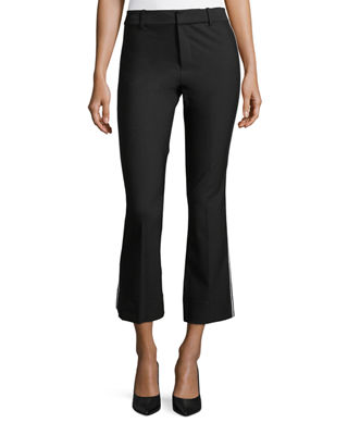 Derek Lam 10 Crosby Cropped Flare Trousers w/