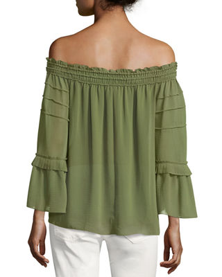 Image 2 of 2: Off-the-Shoulder Tiered Blouse
