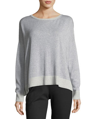 Eileen Fisher Peruvian Plaited Organic Cotton Box Top
