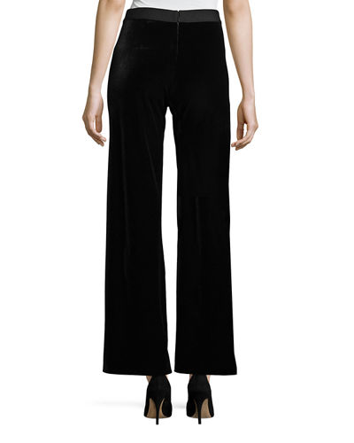 Velvet Wide-Leg Pants, Plus Size