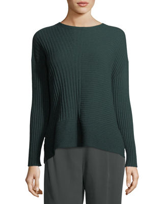 Eileen Fisher Seamless Ribbed Italian Cashmere Sweater, Petite