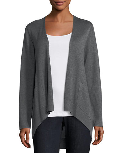 Eileen Fisher Long Slouchy Sleek Knit Cardigan, Petite