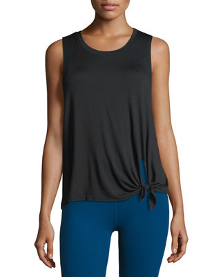 BEYOND YOGA All Tied Up Racerback Performance Tank in Black