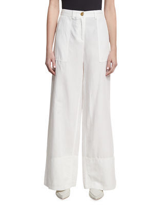 Robert Rodriguez Cotton-Linen Wide-Leg Pants and Matching Items