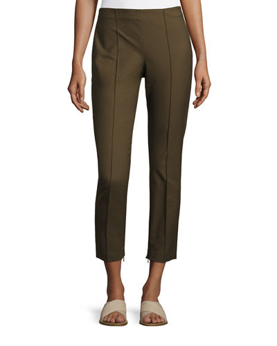 Theory Alettah Approach Cropped Skinny Pants, Green