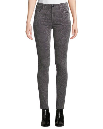 Maria High-Rise Velvet Skinny Pants