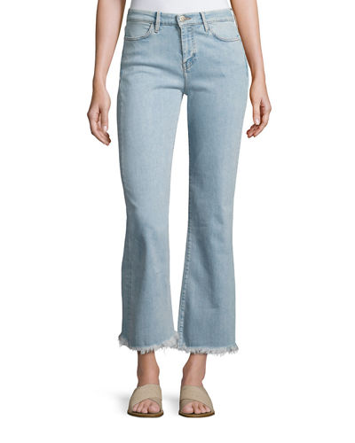 MiH Lou Flare-Leg Cropped Jeans