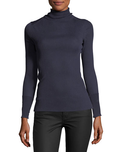 Lana Lightweight Ribbed Turtleneck