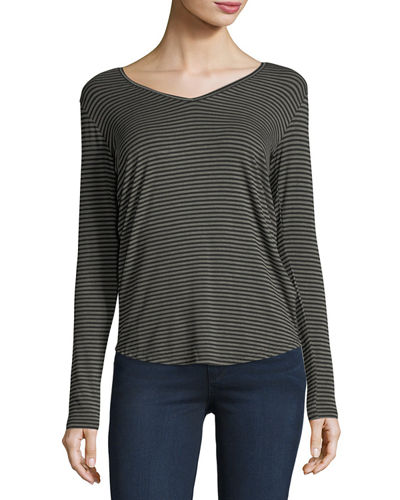 Majestic Paris for Neiman Marcus Extrafine Long-Sleeve Striped