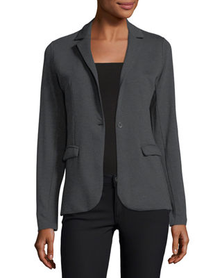 Single-Button French Terry Blazer