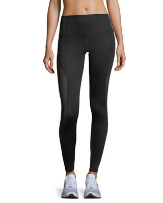 Image 1 of 5: Passion Printed Mesh Insert Full-Length Leggings