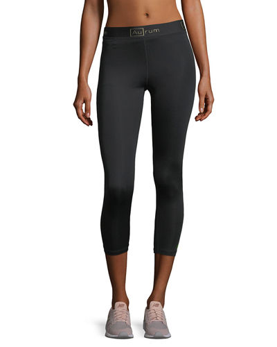 Aurum Radiance Seamless Crop Performance Leggings