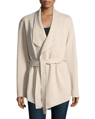 Majestic Paris for Neiman Marcus Wool-Cashmere Drape Cardigan