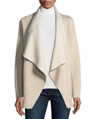 Majestic Paris for Neiman Marcus Double-Faced Wool/Cotton Draped