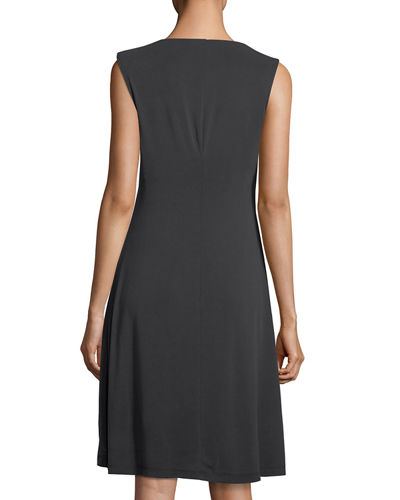 City Retreat Drape-Front Dress