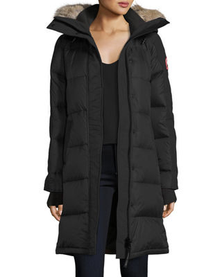 Image 2 of 3: Rowley Hooded Quilted Parka Jacket w/ Fur Trim