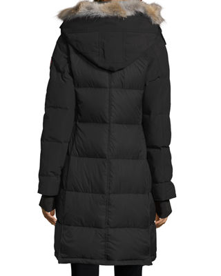 Image 3 of 3: Rowley Hooded Quilted Parka Jacket w/ Fur Trim