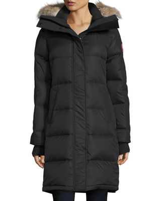 Image 1 of 3: Rowley Hooded Quilted Parka Jacket w/ Fur Trim