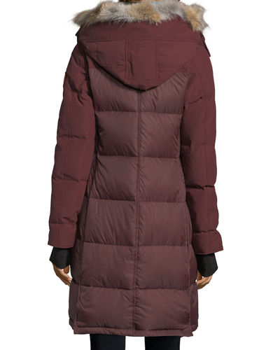 Rowley Hooded Quilted Parka Jacket w/ Fur Trim