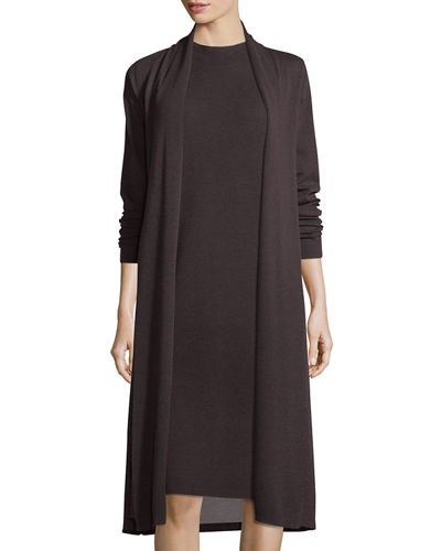 Eileen Fisher Long-Sleeve Kimono Duster & Sleeveless Funnel-Neck
