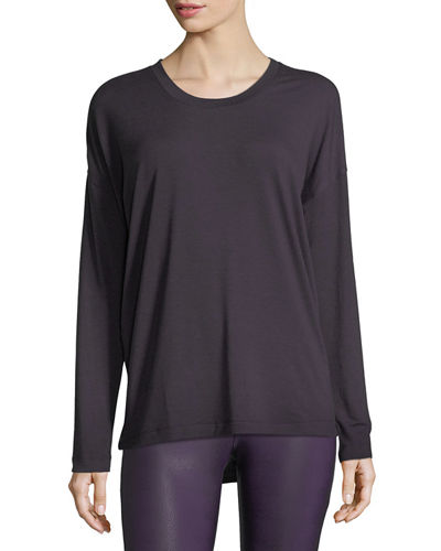 Onzie Braid-Back Long-Sleeve Performance Top