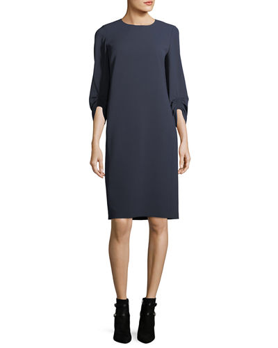 Lafayette 148 New York Tory 3/4-Sleeve Finesse Crepe