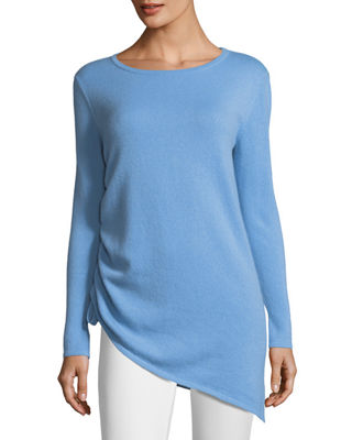 Cashmere Side-Drawstring Sweater