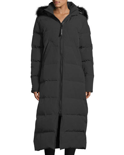 Canada Goose Mystique Long Hooded Puffer Parka Coat
