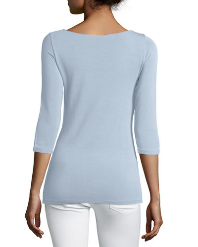 3/4-Sleeve Soft-Touch Top