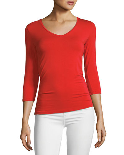 Soft Touch 3/4-Sleeve Top